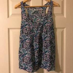 Old Navy Paisley Tank Top